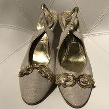 Gold Sandals 5 Jeweled 7 Heels Slingback Sz Casadei Mules vfUpxqq