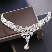Crystal Crown Bridal Hair Accessory Wedding Head Chain Rhinestone Waterd... - £18.58 GBP