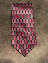 "64""XL ZYLOS GEORGE MACHADO Red Black GEOMETRIC Silk Necktie Ties NWOT - $18.49"