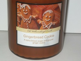 Old Williamsburgh Candle new Gingerbread Cookie Glass Jar 20 oz Brown - $21.60