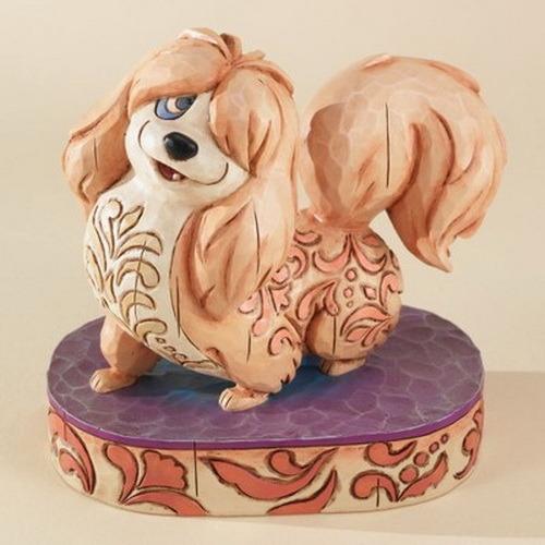 Disney Lady & Tramp (Peg) Flirtatious Peg American folk art Jim Shore figurine