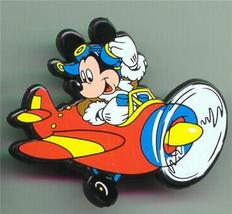 Disney  Mickey Mouse Airplane Pilot Rare UK plastic Pin/Pins - $19.33