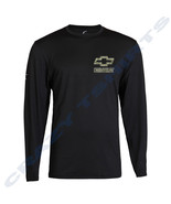 Black Long Sleeve T Shirt Chevy Bowtie Racing Sports T-Shirt Chevrolet S... - $19.79+