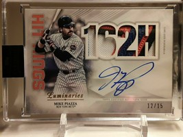 2019 Topps Luminaries Mike Piazza Auto/Jersey Patch #12/15 Dodgers Nice! - $299.99