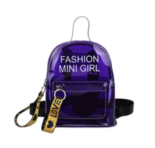 Fashionista Clear Colorful Backpack - $14.99