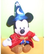 Disney Mickey Sorcerer  Bean Bag Plush 11 inches - $15.54