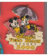 Disney Mickey and Minnie Mouse Disney's Vero Beach Resort - 2000 pin/pins - $19.49