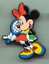 Disney  Minnie Mouse Tennis  English UK plastic Pin/Pins - $12.59