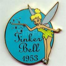 Disney Peter Pan Tinker bell Tinkerbell dated 1953 on the front Pin/Pins - $19.34