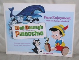 Disney Pinocchio entire cast with Whale  Lobby Card - $48.37