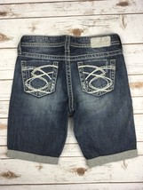 SILVER JEANS SHORTS Buckle Stretch Denim Jean Bermuda Short 28 Womens - $19.97