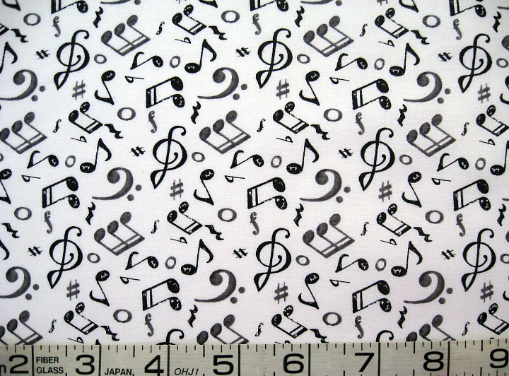 1/2 yard music/notes black/gray on white and 11 similar items : quilt music - Adamdwight.com