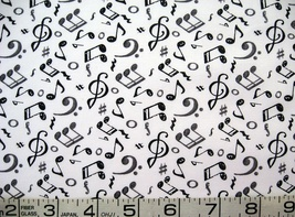 1/2 yd music/notes black/gray on white quilt fabric-Play Your Song-free shipping