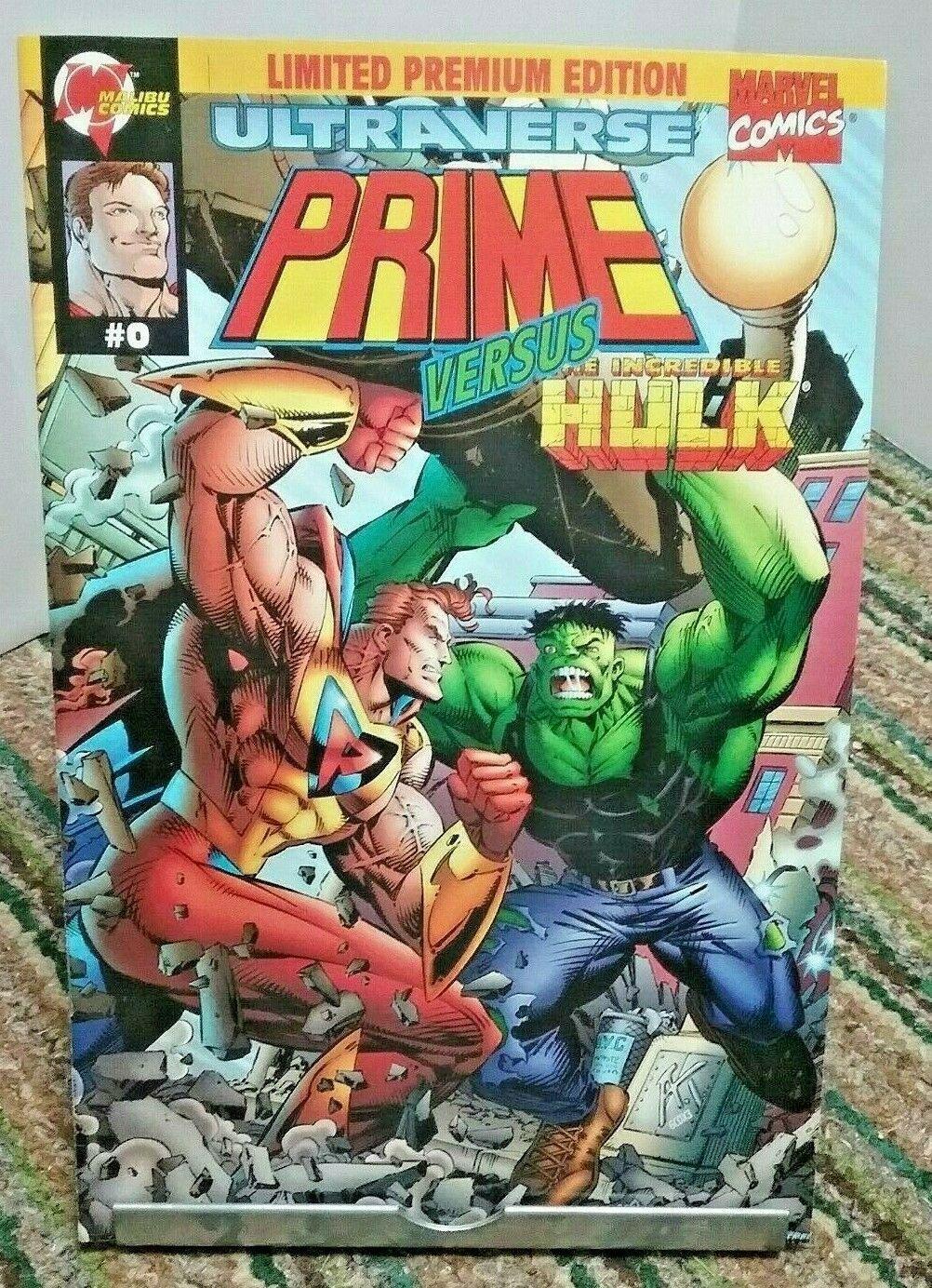 Prime Vs Incredible Hulk Malibu Marvel Comics Issue 0 July 1995