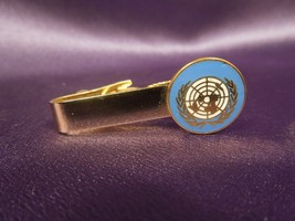Vintage UNITED NATIONS Gold Tone Enamel Tie Bar - $26.73
