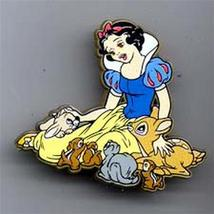 Disney Snow White and the Seven Dwarfs -  w/ animals UK Plastic Pin/Pins - $28.05