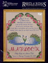 "'Special Wedding Tribute"" Sampler Cross Stitch Pattern - $2.95"