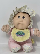 "Cabbage Patch Kids Babyland Pink Baby Doll Plush 1987 Stuffed Toy w Squeaker 10"" - $15.35"