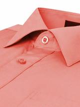 Omega Italy Men's Long Sleeve Regular Fit Coral Dress Shirt w/Defect 3XL image 2
