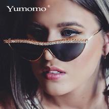 Sexy Diamond Cat Eye Sunglasses Women Sun Glasses Luxury Brand Designer Crystal