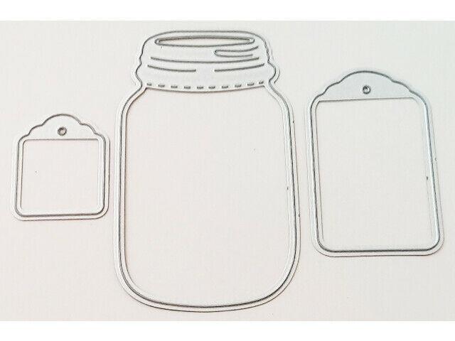 Mason Jar and Tags Dies