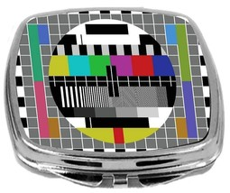 Rikki Knight Vintage TV Test Screen Art Compact Mirror Television TestSc... - $12.00