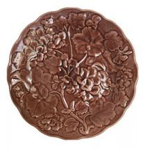 Vintage Dick Knox California Brown Artichoke Plate Green Majolica Relief... - $12.62
