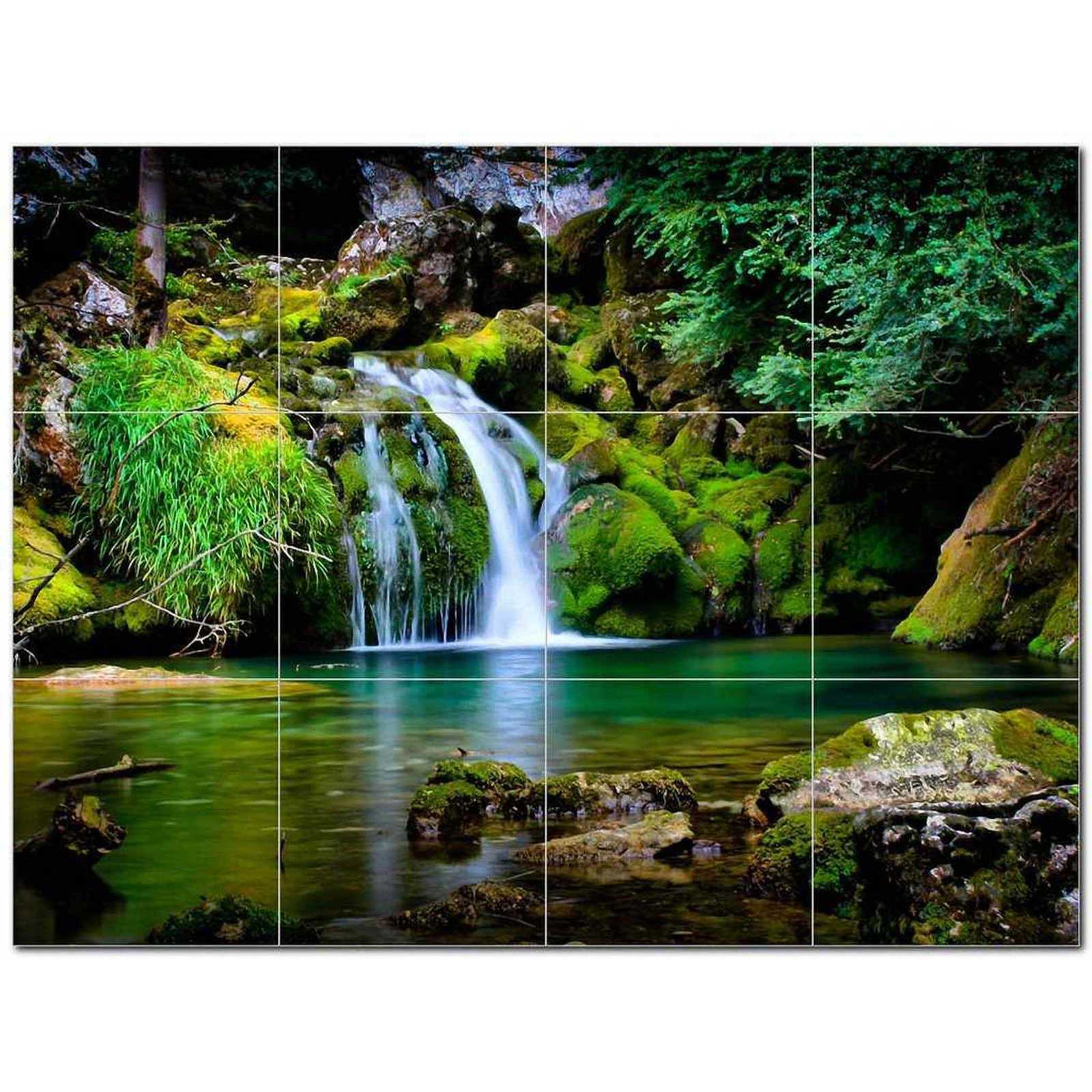 Primary image for Waterfall Picture Ceramic Tile Mural Kitchen Backsplash Bathroom Shower BAZ40620