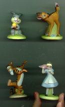 Disney Tigger Thumper Rabit  Alice &  Bambi 4 Procelain Miniature Figurines - $88.67