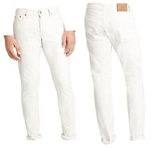 Polo Ralph Lauren Varick Slim-straight Hudson Wh Hudson White 34X34 - $98.00