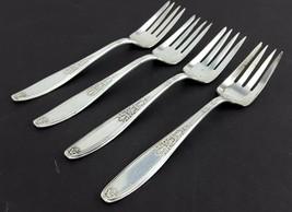 "1847 Rogers AMBASSADOR 4 Salad Forks 6-1/8"" Silverplate - $14.85"
