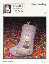 'Juggling Jelly Beans' Easter Stocking Cross Stitch Pattern - $3.95