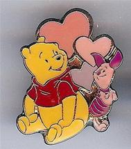 Disney  Winnie the Pooh and Piglet with Hearts Valentine  pin/pins - $18.29