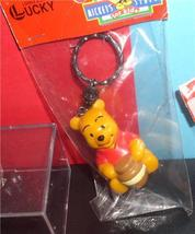 Disney Winnie the Pooh with honny pot  Figurine  key chain made of PVC Mint - $15.83