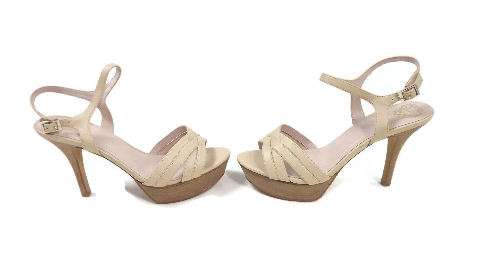 Vince Camuto VC-Paden Platform  Strappy Sandals Shoes Size 10 W Petal /Neutral - $84.55