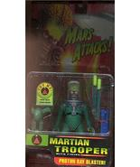 Mars Attacks Martian Green Trooper Proton Ray Blaster Action Figure - $32.89