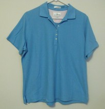 Womens Outer Banks NWOT Blue Short Sleeve Polo Shirt Size Large - $14.95