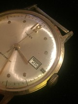 """Vintage Gold Timex 2124 2567  1 1/4"""" watch (No band)  image 4"""