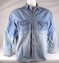 Vintage Genuine Union Bay denim blue Jean shirt western cotton size L - $17.59