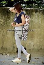 Zip Strap Indian Yoga Bag Shoulder Bag Cotton Handmade Cross Body Mat Sl... - $281,66 MXN