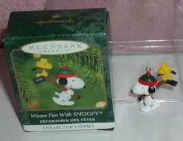 Snoopy and Woodstock Winter fun Hallmark Miniature ornament - $13.71