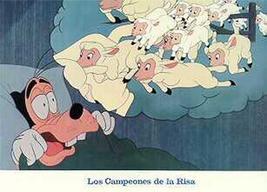 Walt Disney Productions Goofy sheep Las Compeones De La Risa Lobby Card - $19.98