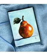Akimova: PEAR, food, garden, acrylic, ACEO - $13.00
