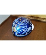 Japonés Bosozoku Cascos #15 Azul X Blanco Cereza Blossom - $468.97