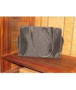 MARY KAY cosmetic sales bag black full zipper closure pink stitching 2 h... - $23.38
