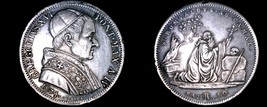 1834-IVR Italian States Papal States 50 Baiocchi World Silver Coin - Gre... - $274.99