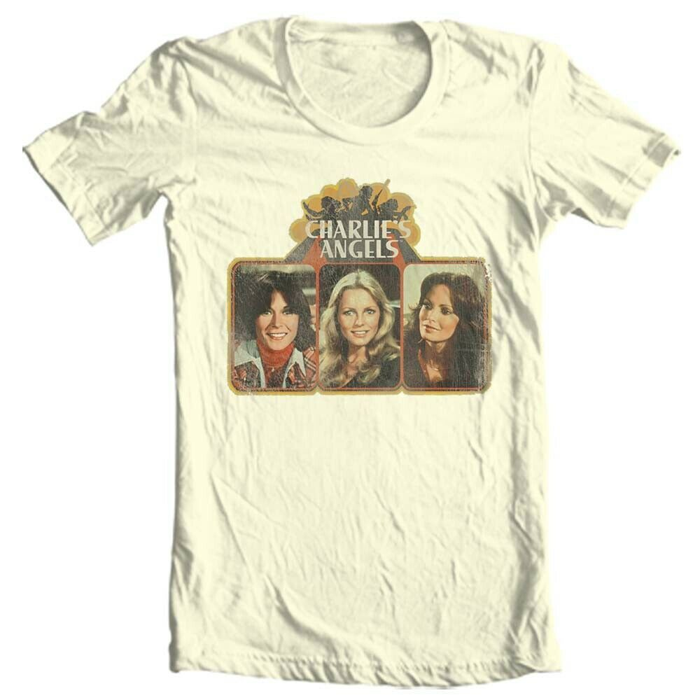 Charlie's Angels T-shirt 1970's retro style cotton graphic distressed tee CA100