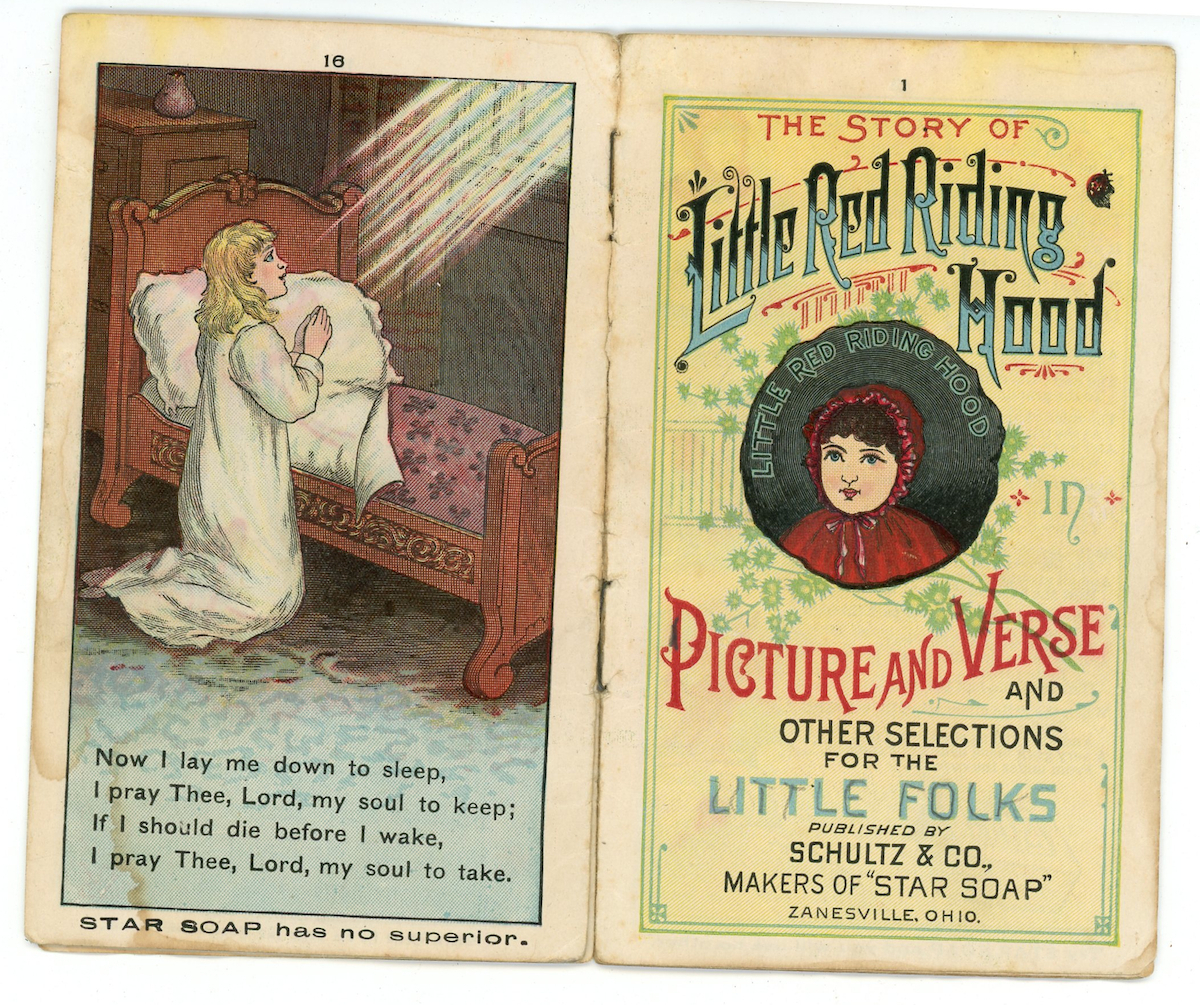 Schultz Co Star Soap advertising booklet Little Red Riding Hood 1800 ephemera