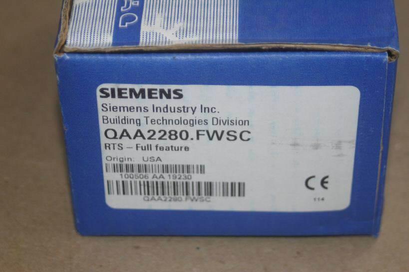 NIB Siemens QAA2280 FWSC RTS Full Feature and 50 similar items
