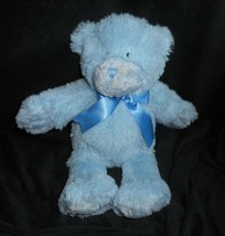 "13"" 2015 First Impressions Baby Blue Teddy Bear Stuffed Animal Plush Toy Soft - $26.65"